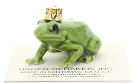 Hagen-Renaker Miniature Ceramic Frog Figurine Birthstone Prince 04 April