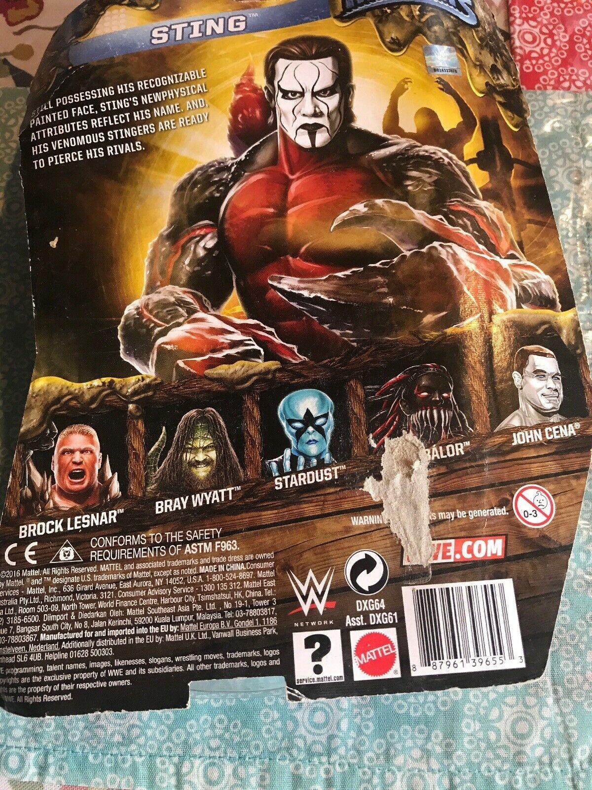 2016 WWE WWF Mattel Sting Scorpion Mutants Wrestling Figure MOC WCW NWO NWA