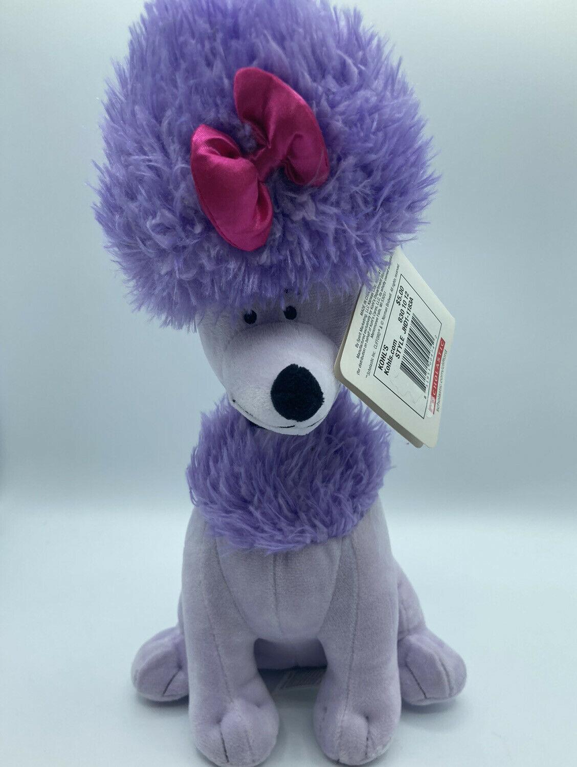 "Cleo 12 "" Violet Caniche Chien Clifford The Big Peluche Animal en Nwt Kohls - $21.18"