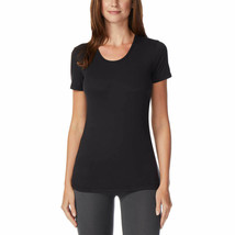 32 Degrees Women's 2Pk Short Sleeve Scoop Neck T-Shirt Orchid/Black Size: Small image 2
