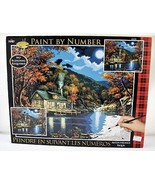 Lakeside Cabin #21690 Plaid Acrylic Paint By Number Set - NEW Sealed - $37.95