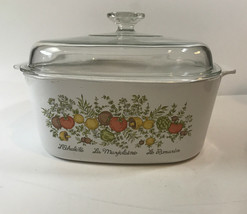 Rare Vintage Corning Ware -Spice of Life  A-5-B Casserole Dish with Lid 5 Quart - $74.25