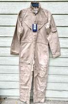 Nwt Genuine Us Air Force Tan Nomex Fire Resistant Flight Suit CWU-27/P - 40L. - $123.75