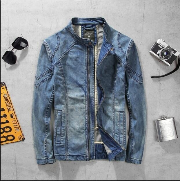 Fashion cheap Hot Sale Light Blue fashion men's cotton denim Jackets man jean ja