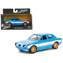 Brians Ford Escort Blue and White Fast & Furious Movie 1/32 Diecast Mode... - $16.40