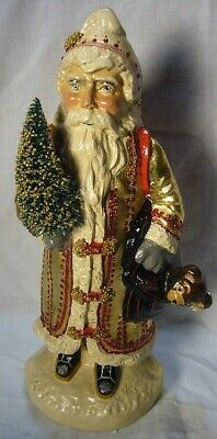 Vaillancourt Folk Art Gold European Father Christmas, signed by Judi! Last one!