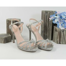 Kate Spade Florence Silver Fine Glitter Rainbow High Heels 6 NIB - $133.16