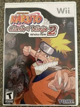 Wii Naruto Clash of Ninja Revolution 2 Nintendo Wii 2008 with case - $18.57