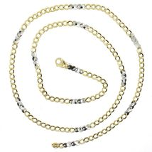 Gold Chain Yellow White 750 18K, 50 CM, Groumette Flat And Infinity, 3 MM image 3