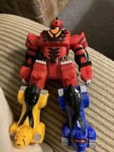 "Power Rangers Bandai Megazord 6"" Figure Zord 2007 Red Blue Yellow Free Shipping - $10.99"