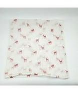 Petite Pehr Nordstrums Fawn Deer Pink White Baby Muslin Swaddle Blanket ... - $39.99