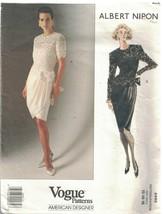 2492 Vogue Cartamodello Misses Foderato Vestito Top Albert Nipon America... - $13.85
