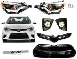 For 14 16 Toyota Corolla S Lower Grill Upper Headlights Fog Lights FREE Brackets - $421.67