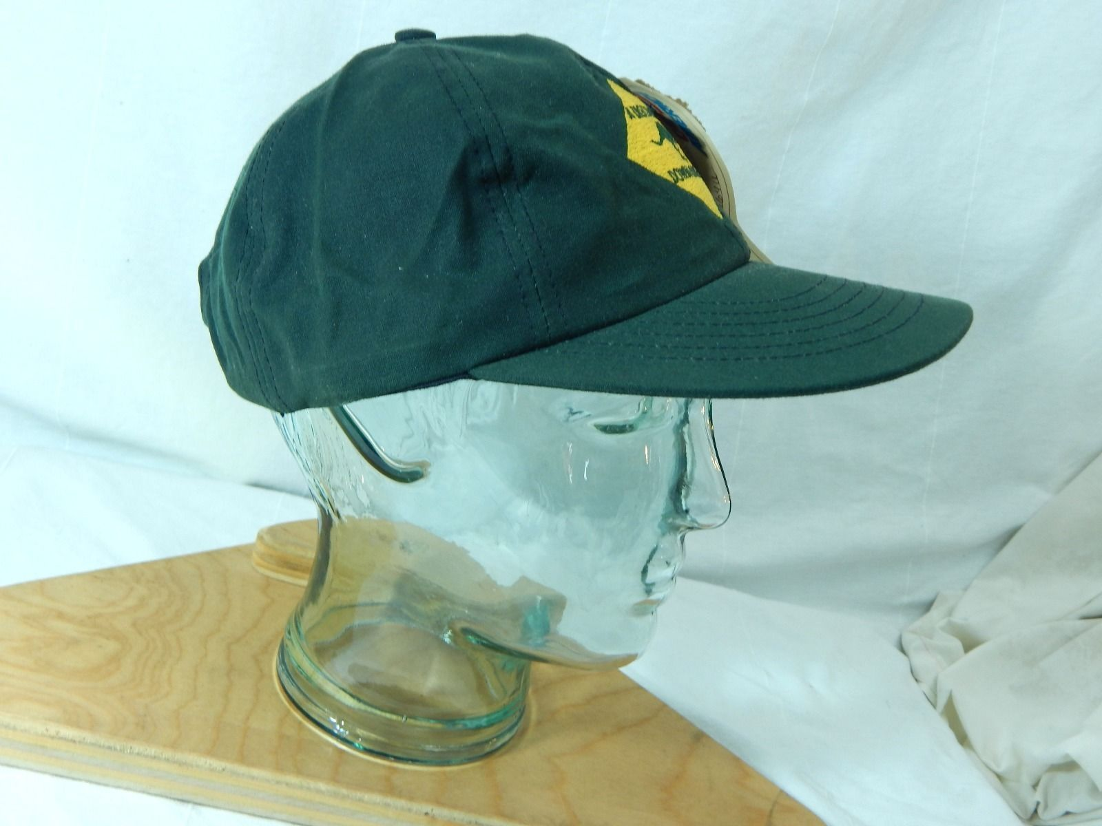 A Discovery Down Under New W Tags Waxed Oil Cloth Oilskin Hat Green Australia image 6