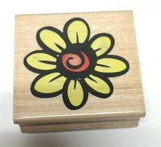 """Hero Arts Large Daisy Flower Doodle Mounted Stamp 2"""" x 2"""" - $8.42"""