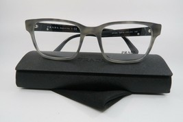 New Authentic Prada Eyeglasses VPR 06U VYR-1O1 Grey Marble Size 52mm w/ Case - $103.46