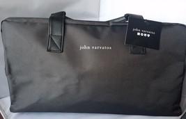 NWT John Varvatos Weekender Bag Tote Duffel Bag Gray Medium Travel Zip A... - $21.89