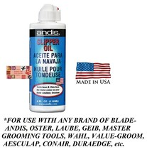 Andis PREMIUM Lubricating BLADE & Shear OIL Lube FOR AG,BG,A5,76,Wahl,Ge... - $10.48
