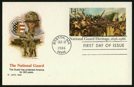 #UX114 14c National Guard Heritage, Fleetwood Fdc **Any 4=FREE Shipping** - $1.25