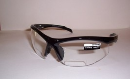 2.50 safety sport BIFOCAL reading glasses 250 bifocal magnification CLEA... - $14.94