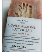 Organic Real Honey & Almond Butter Bar - Olive & Shea Handcrafted - $3.50