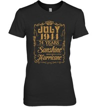 July 1944  74 Years Of Being Sunshine Hurricane T shirt - $19.99+