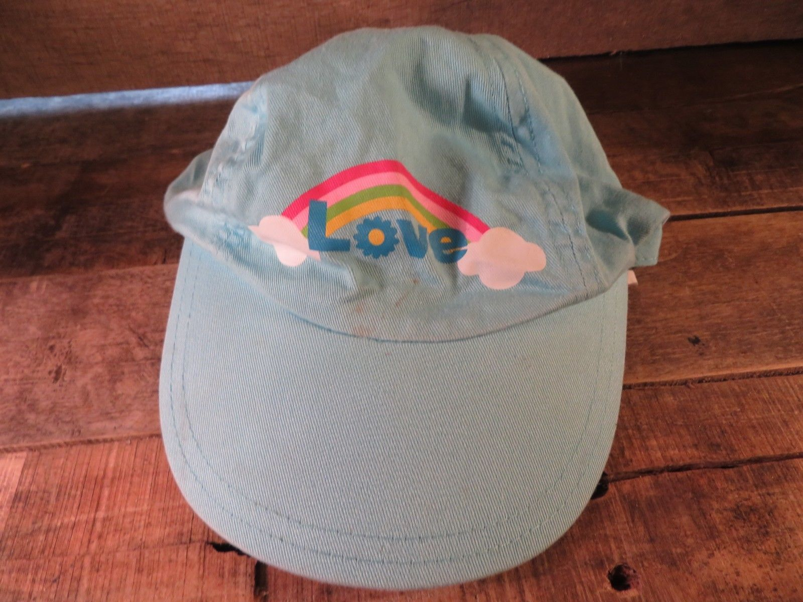 LOVE Rainbow Clouds Toddler Kids Cap Hat