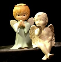 Ceramic Angels AA-191730  Vintage Collectible Pair image 1