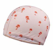 PANDA SUPERSTORE Kids Elastic Swimming Cap Cloth Febric Swim Caps Pink Coco Prin