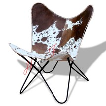 Leather Chair Hide Chairs Handmade Cover Cowhide Hair On Hardoy Butterfly - $236.61