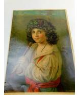 "1880 Chromolithograph H Hallett &Co. Portland Maine ""Italian Sheppard Boy""  - $49.99"