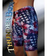 Thunderbox Nylon Spandex Mens Womens Blue Americana Jammer Shorts  S, M,... - $25.00
