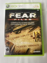 F.E.A.R. Files (Microsoft Xbox 360) New Cl EAN Disc / Opened Damaged Case - $45.00