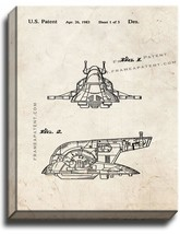 Star Wars Slave I Patent Print Old Look on Canvas - $39.95+