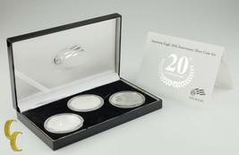 2006 de Plata American Eagle 20th Aniversario de 3-Coin Juego con / Caja & - $213.41