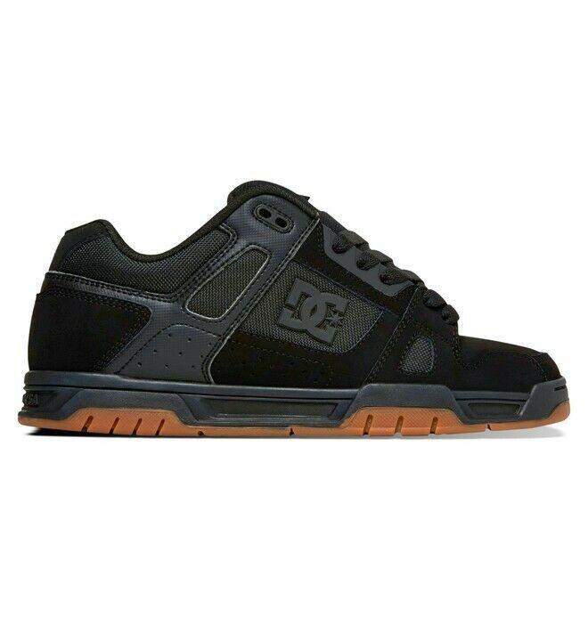 Mens DC Stag Skateboarding Shoes NIB Black Gum        (bgm) image 2