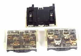 LOT OF 3 ALLEN BRADLEY 800T-XA CONTACT BLOCKS 800TXA SER. C image 1