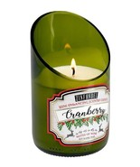 Green Glass Wine Bottle White Cranberry Zinfandel Scented Candle 40 hr B... - $17.59