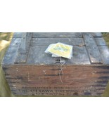Ottawa Brewing Assn. Wooden Crate Ottawa, IL Absolutely non intoxicating  - £203.97 GBP