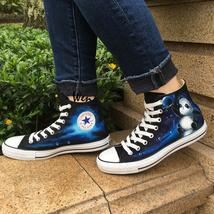 Galaxy Panda Original Design Converse All Star Sneakers Wen Hand Painted... - $155.00
