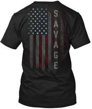 Unique Savage Family American Flag Hanes Tagless Tee Hanes Tagless Tee T... - $10.99
