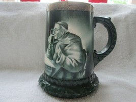 "Green mark Lenox monk/friar mug or tankard, 5 1/2"" sterling rim - $85.00"