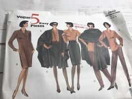 Vogue 2552 Cape  dress pants skirt top Sewing Pattern  14-16-18 - $9.82