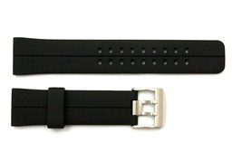 22mm Black Rubber Stripe Watch BAND Strap Compatible  FIT Luminox S/S Buckle - $17.95