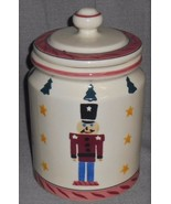 1983 Hartstone CHRISTMAS TOY SOLDIER Cookie Jar NICE! Made in USA - $29.69