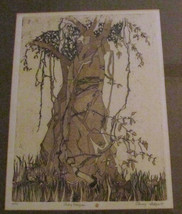 "Rare 1975 Penny Feder ""Baby Banyan"" Etching & Woodcut Hand Signed #64/90 - $299.99"