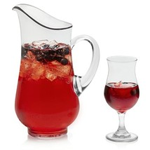 Libbey Modern Bar Sangria Entertaining Set with 6 Stemmed Glasses and Pitcher - $33.69