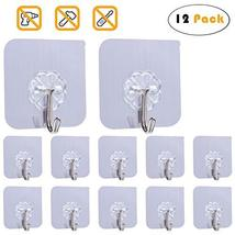 Adhesive Hook Heavy Duty Wall Hook for Ceiling Reusable Hanger for Bathroom Stic image 2
