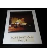 Pope John Paul II at desk Framed 11x14 Photo Poster Display - $32.36