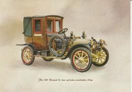 Vintage Birthday Card 1912 Packard 18 Four Cylinder Landaulet Antique Car - $9.89